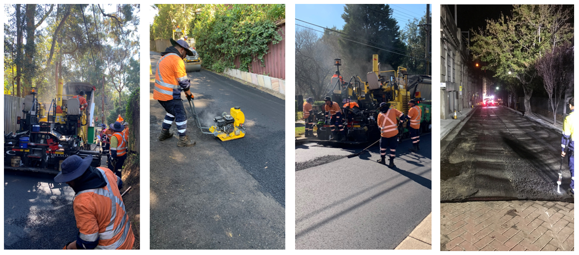 Asphalt Small Works Crew at work in Sydney