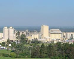 A panoramic view of the Boral Maldon Cement Works