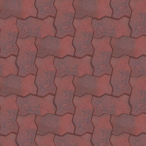 Interpave Paver Clinker Red Commercial Boral