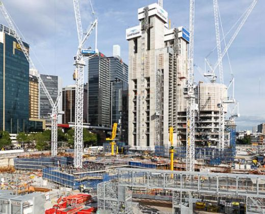 Barangaroo South Construction