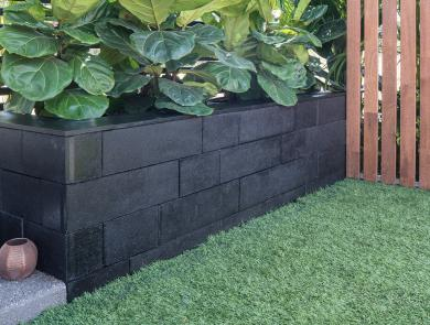 Black Klinker Retaining Wall Boral