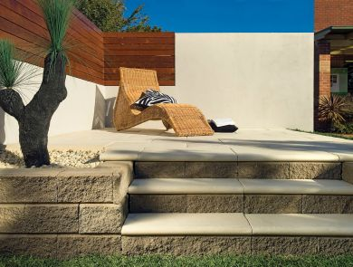 Almond Litewall Retaining Wall Boral